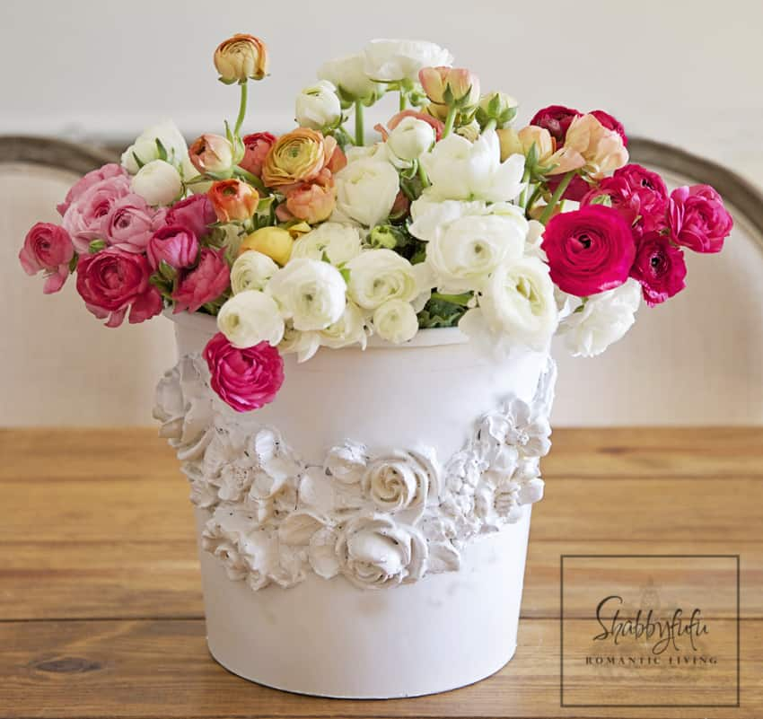 Florist bucket transformation - a great way to bring the outdoors inside this spring!