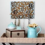 Rusty Iron Scrollwork DIY Jewelry Holder