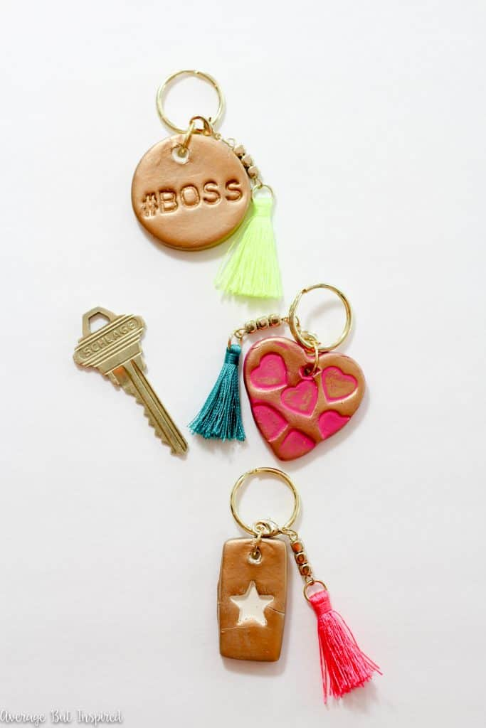 Air dry clay keychains are a fun and simple craft that anyone can make! Plus, they make a great DIY gift!