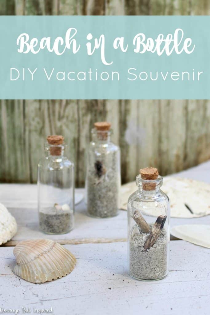 Is a beach vacation in your future? If the answer is yes, bring the beach home with you with this fun Beach in a Bottle DIY Vacation Souvenir! Click through for the tutorial.