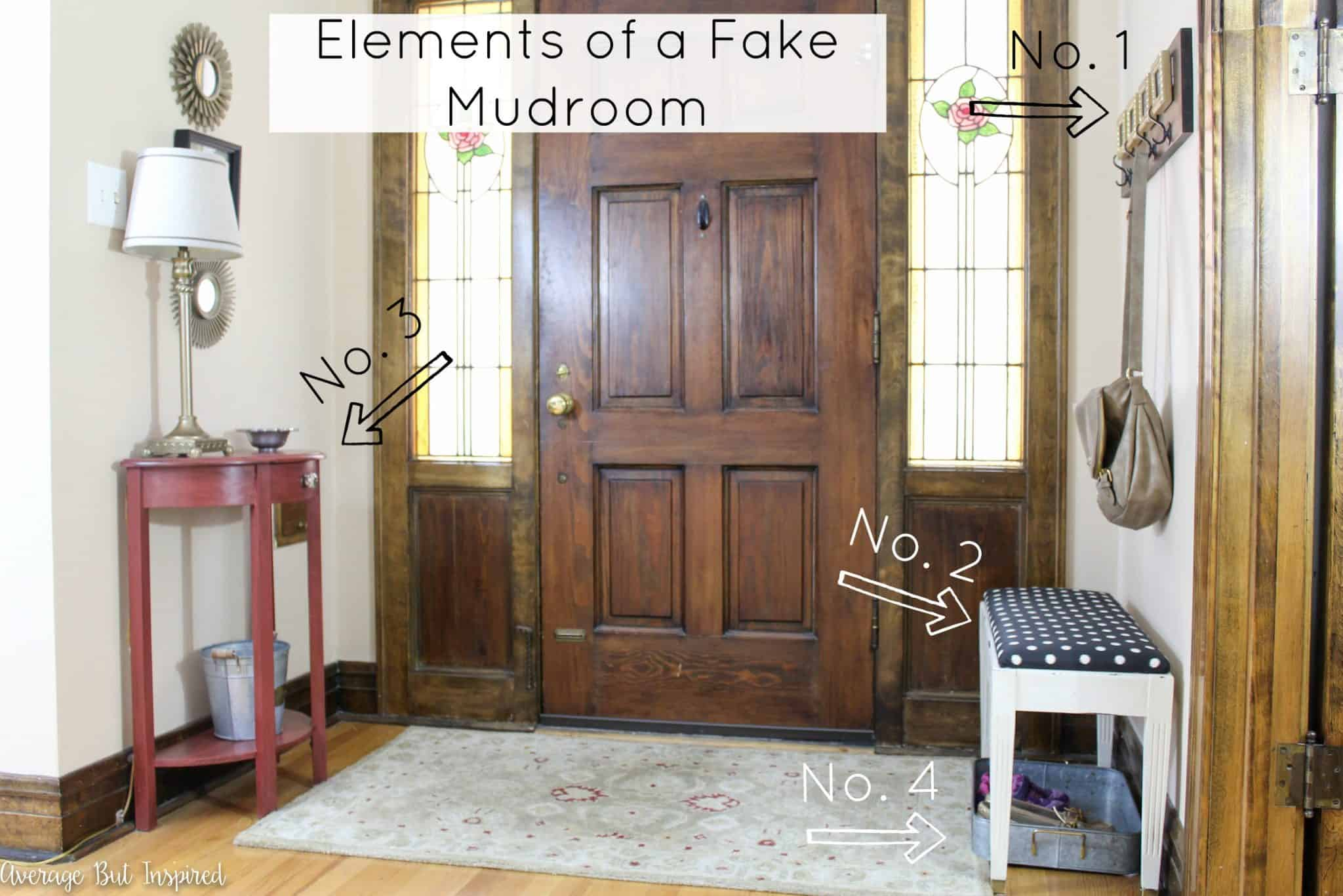No Mudroom No Problem How To Create A Fake Mudroom
