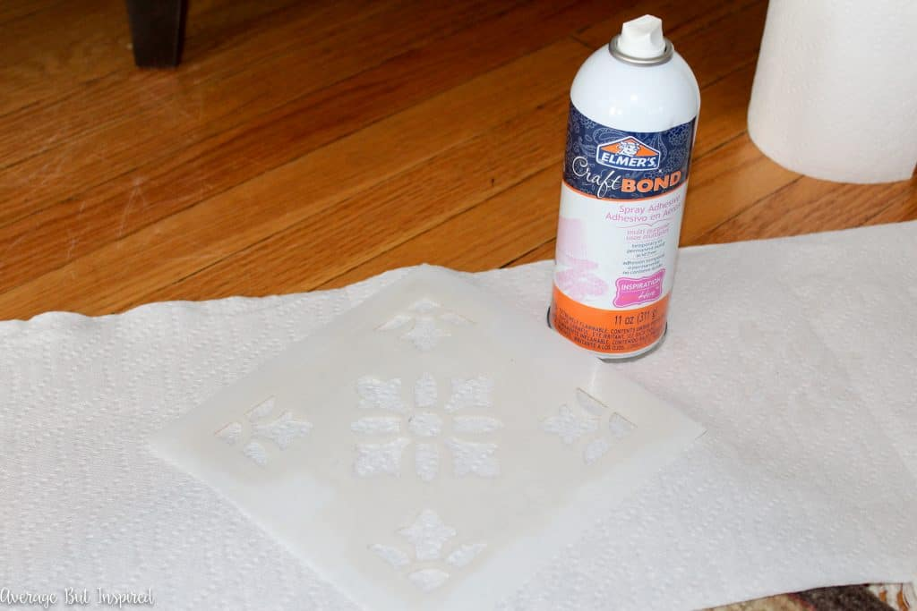 Get the cement tile look for less with paint and a stencil! Get the full tutorial on how to stencil tile here!