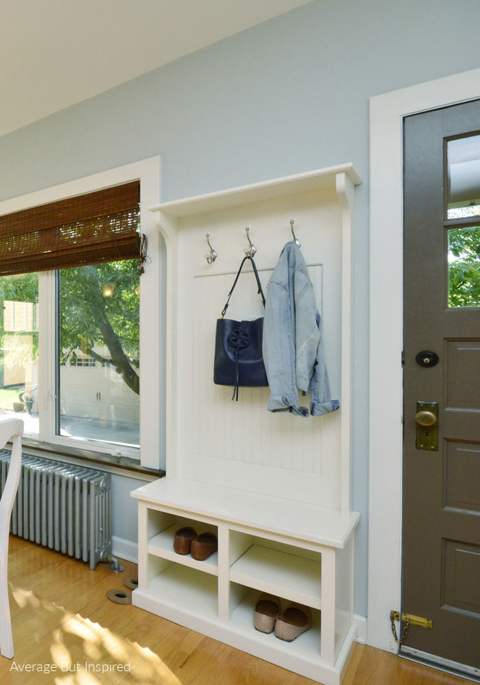 "No mudroom? No problem! Get these great ""no mudroom ideas"" to help you achieve an organized entryway."