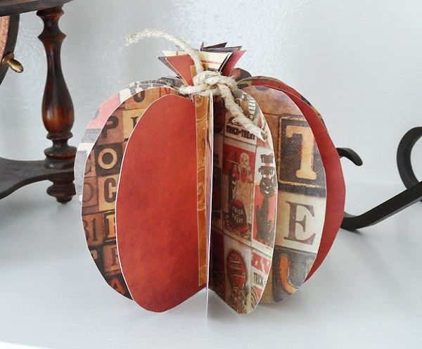 This 3D paper pumpkin is from Crafts by Amanda