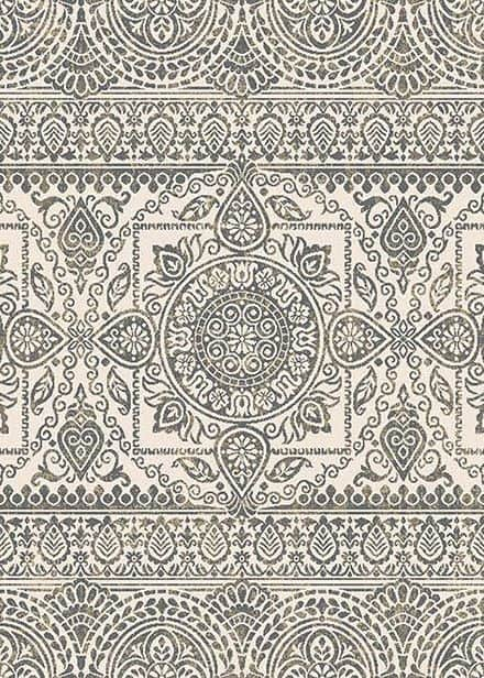 This affordable area rug in pretty shades of gray and cream would look great in any room! Augusta Jaqueline Grey