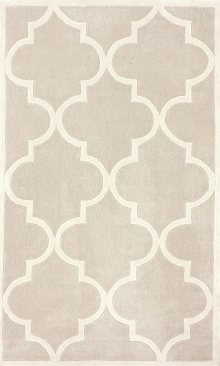 This affordable area rug in pretty shades of beige and cream would look great in any room! Augusta Jaqueline Grey