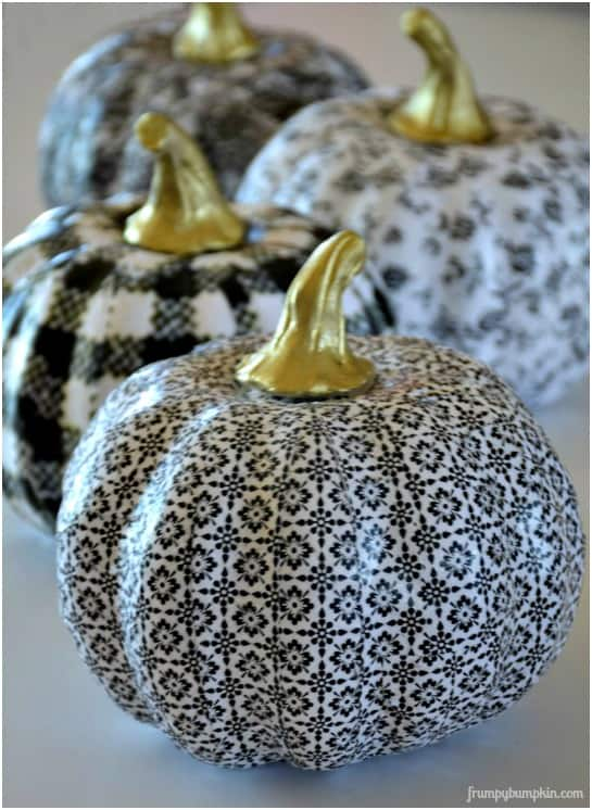 Paper Covered Pumpkins from Paint a Sign