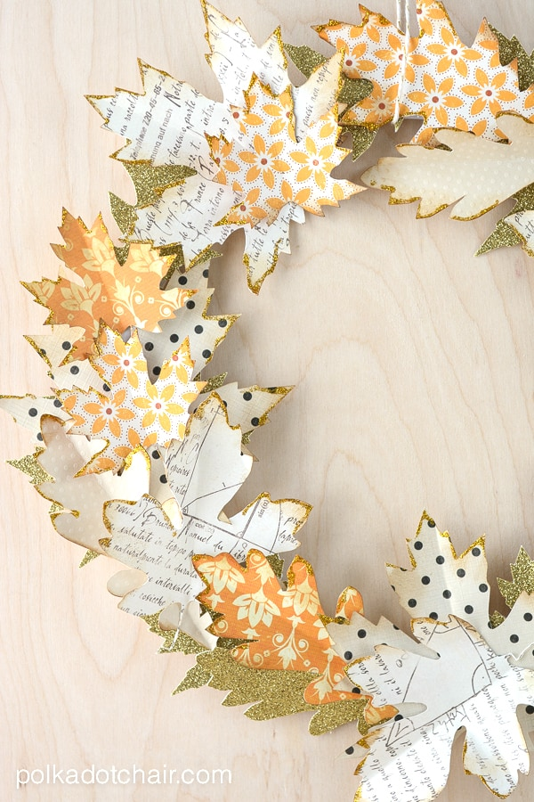 This Paper Leaf Wreath is from Polka Dot Chair