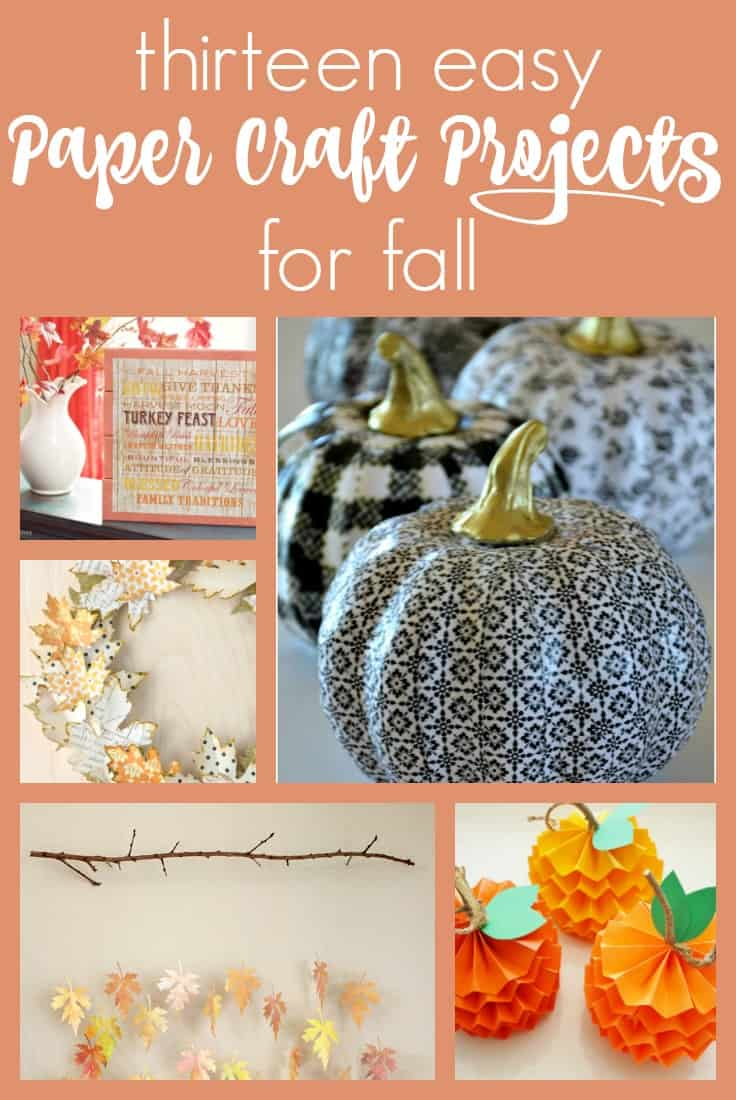 These paper craft projects for fall are sure to inspire you to get out your scrapbook paper stash, scissors and glue! Check out the great ideas right here.