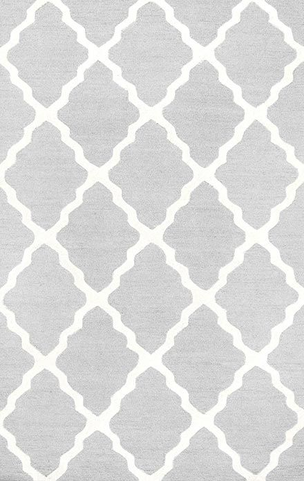 This affordable area rug in pretty shades of gray and cream would look great in any room! Varanas Light Gray