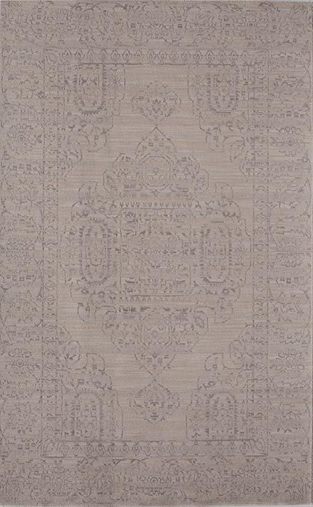 This affordable area rug in pretty shades of gray and cream would look great in any room!