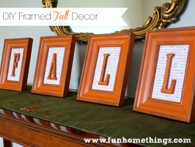 This DIY Framed Fall Decor is from Fun Home Things