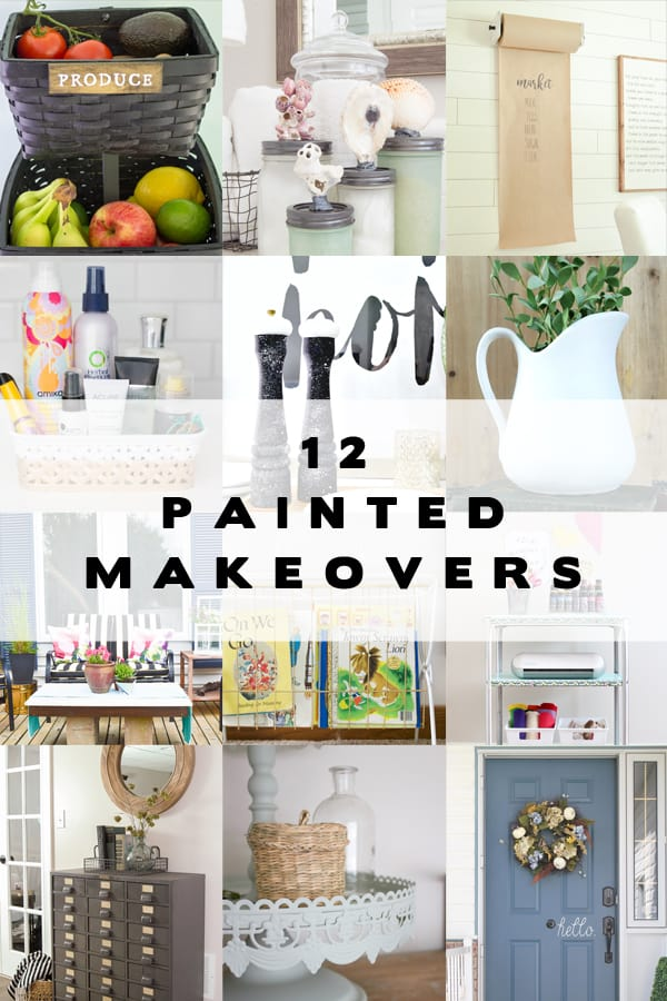 12 bloggers gave home decor items brand new looks with spray paint! You'll love these ideas!