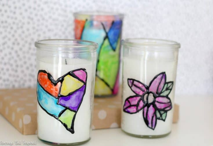 Dollar Store Stained Glass Candles