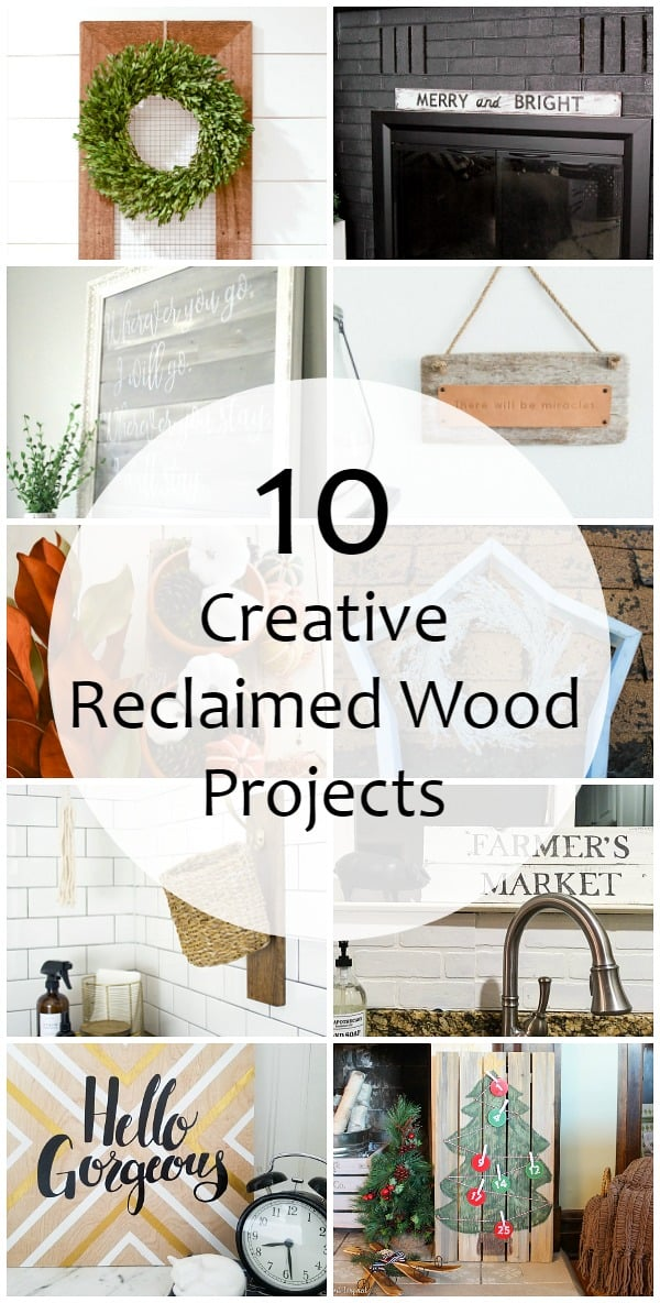 See ten amazing projects you can make with reclaimed wood! As part of the Monthly DIY Challenge you'll find these great wood project tutorials.