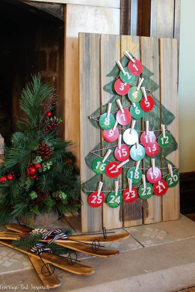 Learn how to make an adorable and rustic DIY Advent Calendar or Christmas Countdown Calendar. This tutorial teaches you how to make this simple advent calendar for your holiday celebration.