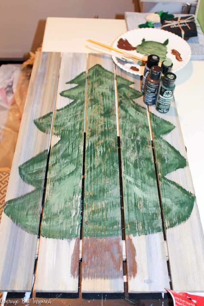 How To Make A Faux Pallet Wood Advent Calendar