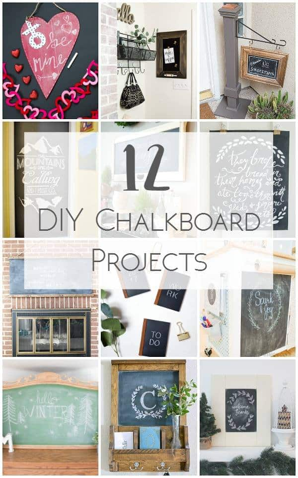 In this post you'll find 12 beautiful DIY chalkboard projects that were created for the Monthly DIY Challenge! You'll find something to inspire you!