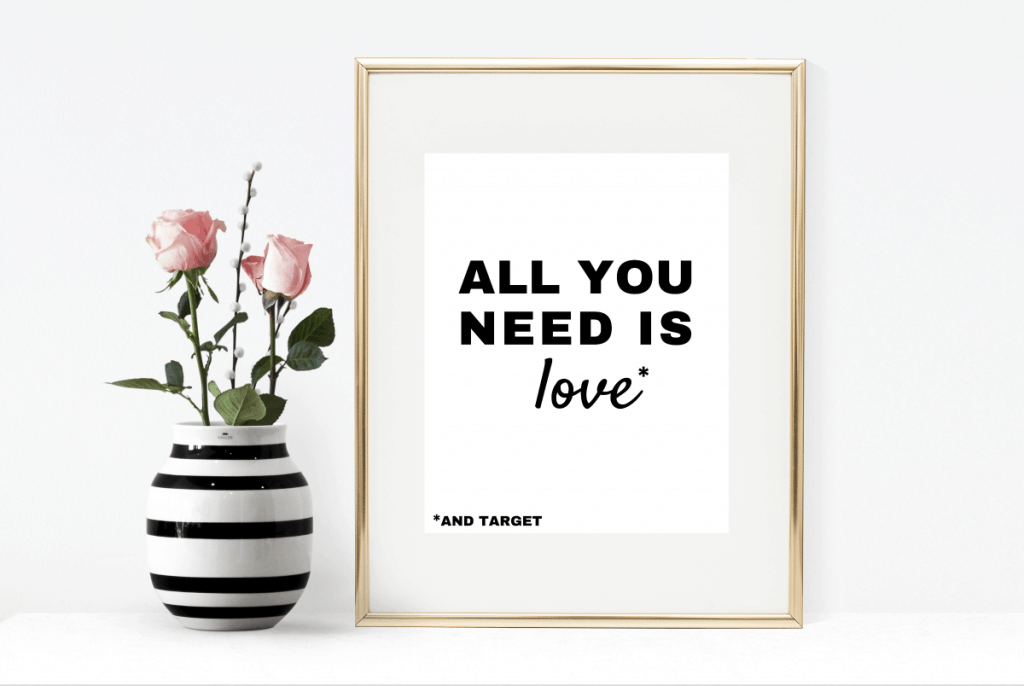 "Download this free ""All You Need is Love"" printable for Valentine's Day or as a gift for your girlfriends. It comes in two color combos!"