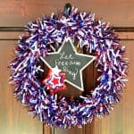 DIY Fourth of July Wreath Made with Dollar Tree Supplies