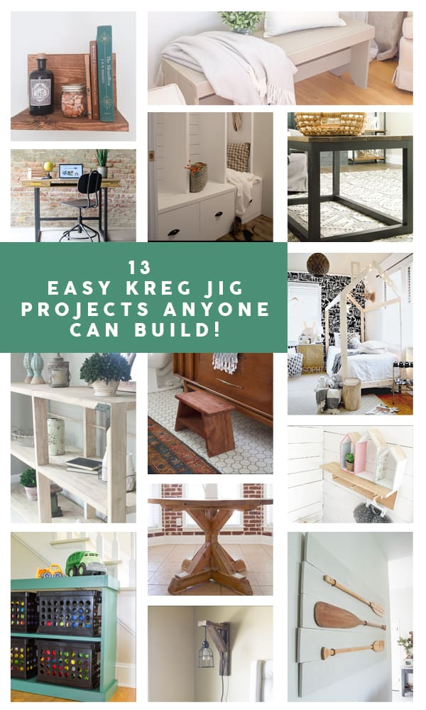 Check out this post for lots of beginner Kreg Jig projects! These beginner woodworking projects are truly ones that any skill level can make!