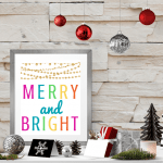 Colorful Merry & Bright Free Printables for Christmas