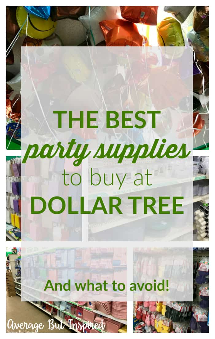 If you're planning a party, you need to see this list of the best party supplies to buy at Dollar Tree! Not only does it tell you what to buy to save money, it tells you what to skip! It's a must have for any party planning! #dollartree #partydecor