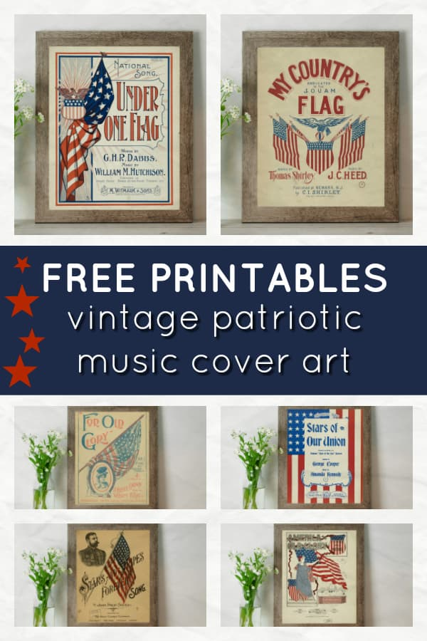 graphic about Vintage Sheet Music Printable identify No cost Common Patriotic Printables Fantastic for the Fourth of
