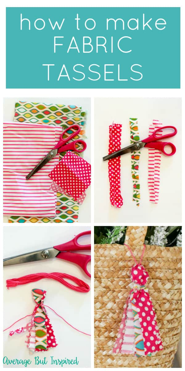 Making fabric tassels could not be easier! Get the how to in this post, and see how cute fabric tassels look on purses!