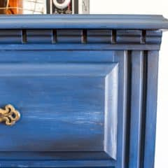 Denim Faux Finish Furniture Painting Technique {A Lingerie Chest of Drawers Makeover}