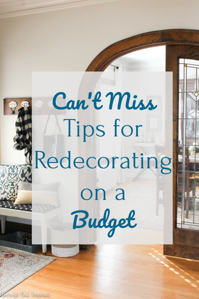 This post is so helpful! There are three great tips for redecorating on a budget that you don't want to miss!