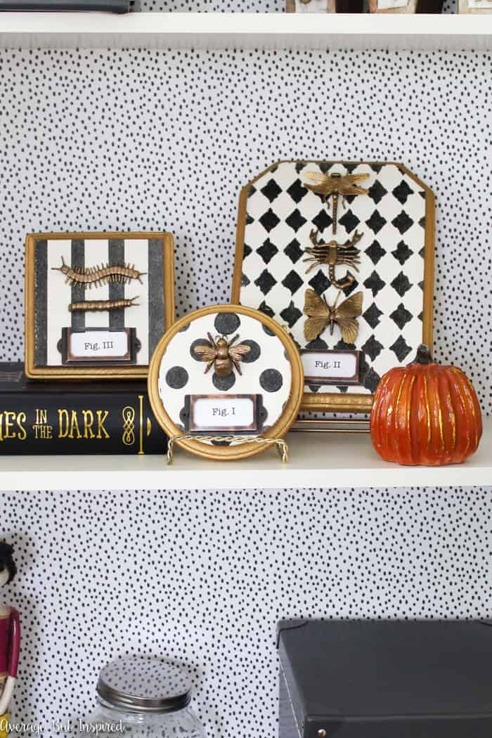 Cute and creepy! Make these vintage bug Halloween decorations with inexpensive craft supplies! They're a fun Halloween craft for all ages.