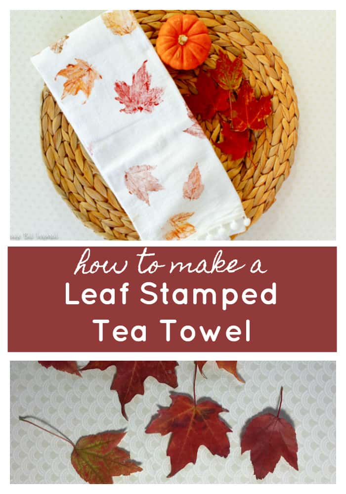 How to Make Leaf Stamped Tea Towels (With Real Leaves