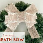 How to Make a Beautiful Wreath Bow {Video Tutorial}