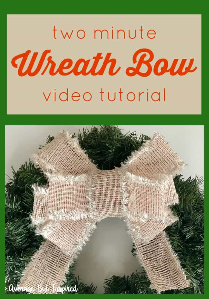Learn how to make a beautiful wreath bow with this video tutorial! You can make gorgeous bows in just two minutes. It's so easy! Add these DIY wreath bows to any type of wreath for a high-end look! #wreathbow #christmaswreath #diywreathbow #wreaths