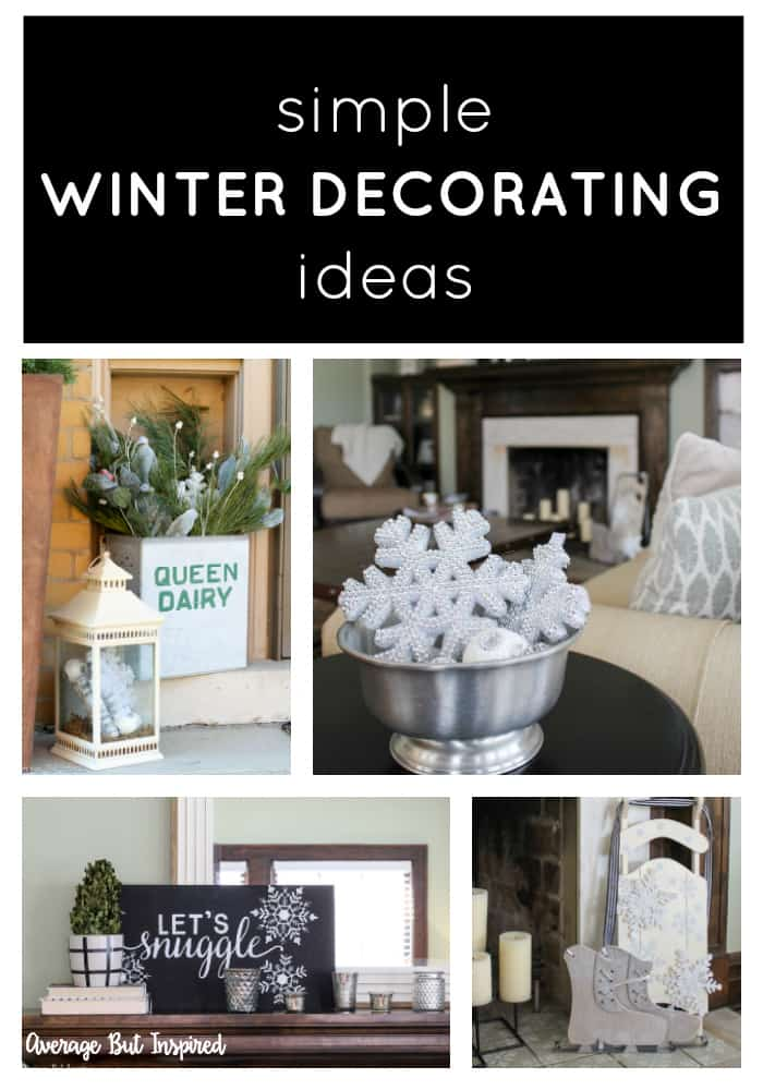 Looking to make your home feel less sparse after the holiday decorations are packed away? Check out these simple winter decorating ideas, which will add personality and warmth to your home! #winterdecor #winterdecorating #winterdecorafterchristmas #winterdecoratingafterchristmas