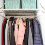 Small Coat Closet Organization Makeover