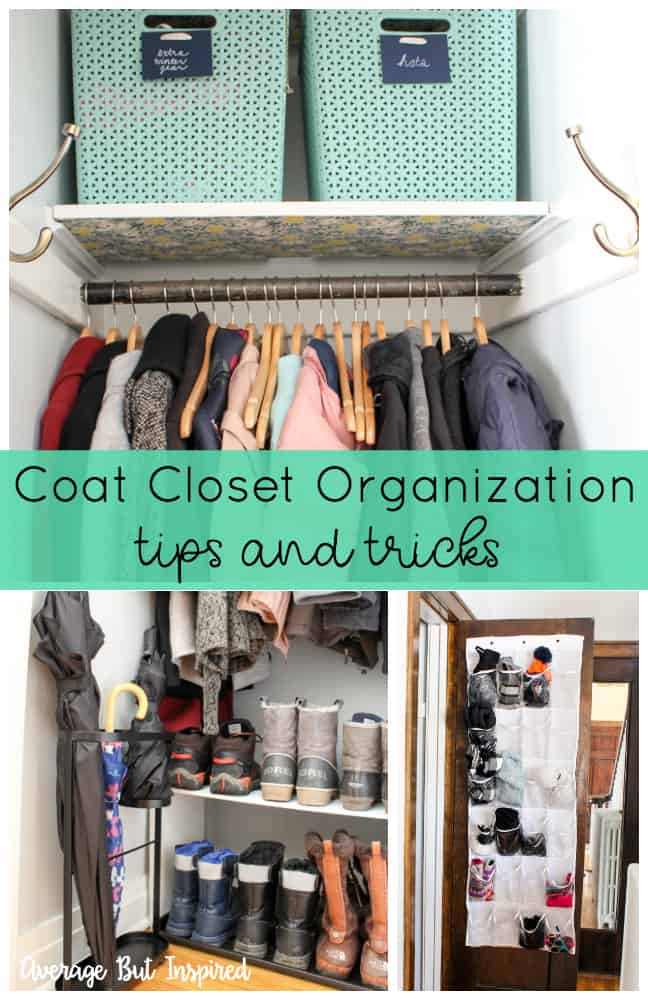 Whip that coat closet into shape with the help of this post that gives you coat closet organization tips and tricks! Your coat closet will get organized and stay organized.