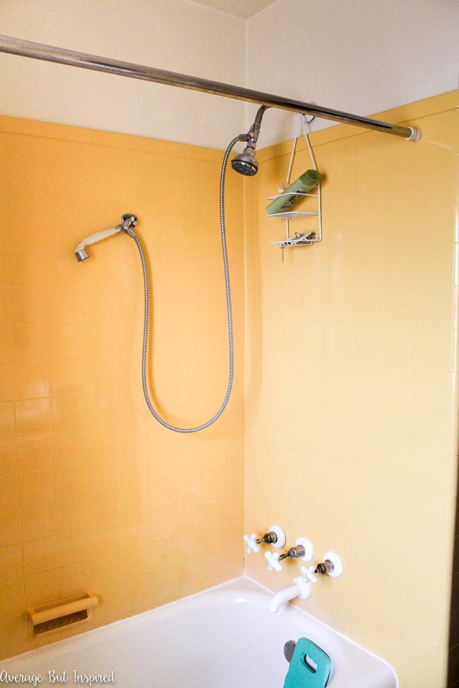 This vintage yellow bathroom is getting a gut renovation!