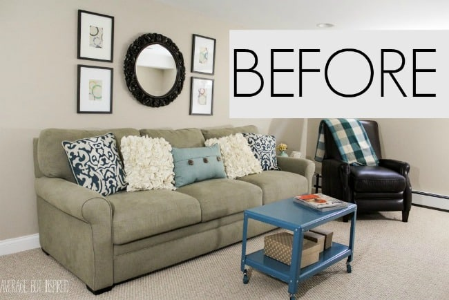 This tiny coffee table was all wrong for this living room! Read this post to find out how NOT to make the same mistakes as this blogger!
