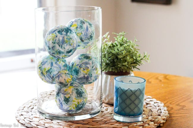 Create dollar store diy decorative ball vase fillers with surprising items!