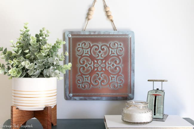 Vintage Tin Tile Wall Art: a Dollar Tree DIY