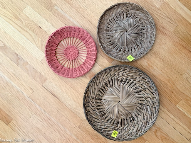 Flat baskets from the thrift store are such a versatile home decor piece! Learn how to hang baskets on the wall and use them as wall decor in this post.