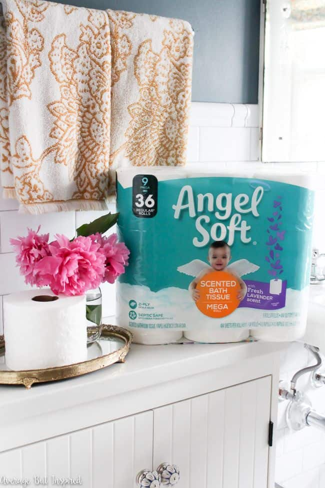 Angel Soft with Fresh Lavender Scented Tube makes your bathroom smell amazing without sprays!