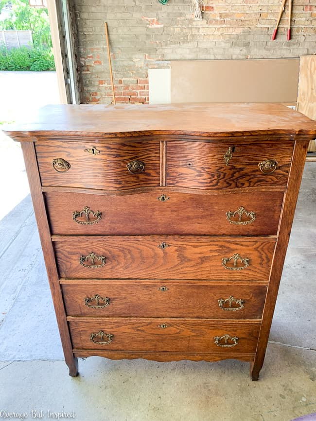 See how this tall antique dresser got a beautiful two-tone makeover.