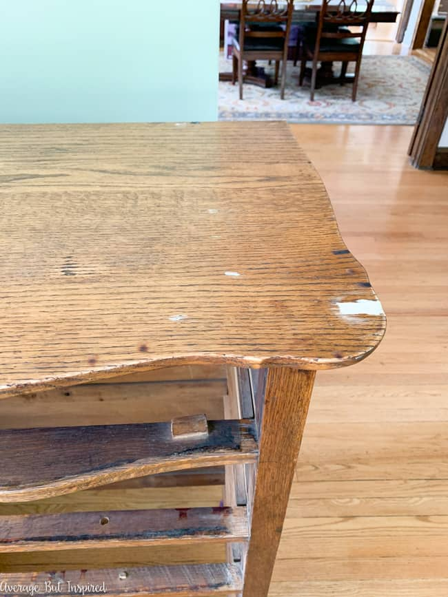 Wood filler can fix gouges and scratches in furniture that is going to be painted.