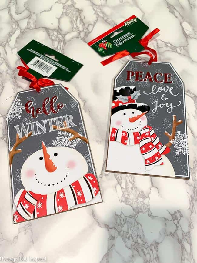 Use these Dollar Tree tag ornaments to make adorable decor tags for your Christmas decorations this year.