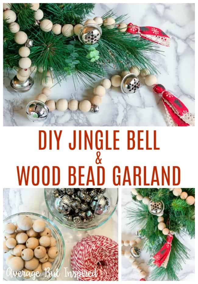 This is so pretty and easy to make! This DIY jingle bell wood bead garland is just perfect for Christmas decor! Get all the instructions in this post.