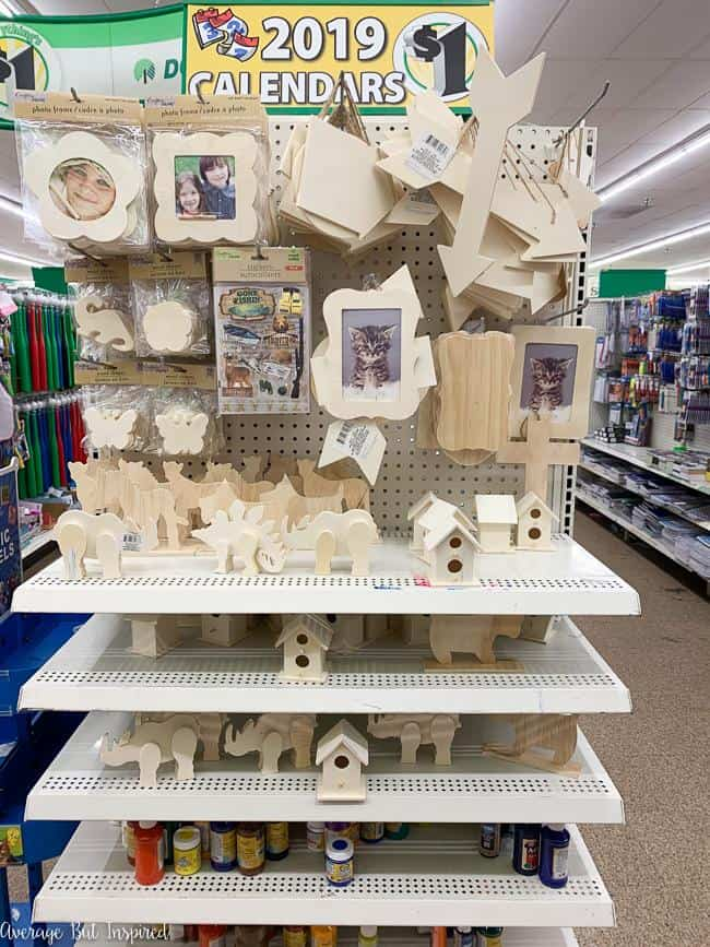 Check out Dollar Tree's expanded selection of craft wood items! Such a great craft supply basic for just a dollar.
