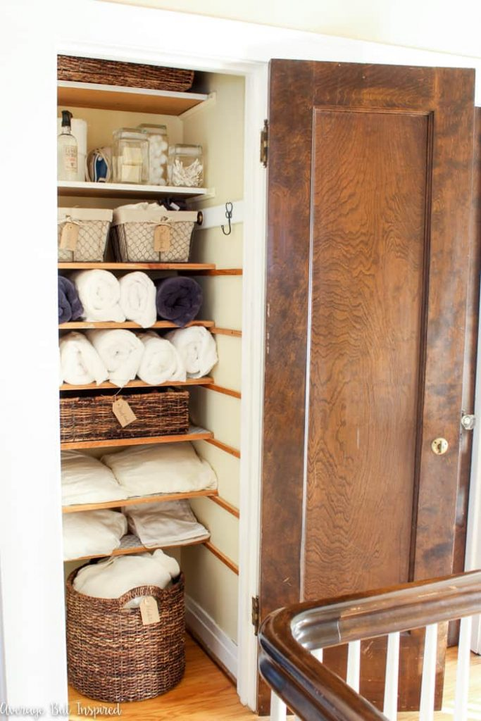 Organizing your linen closet is a great thing to do when you're forced to stay home for an extended period of time.